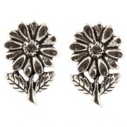 Sterling Silver Stud Earrings - Flowers